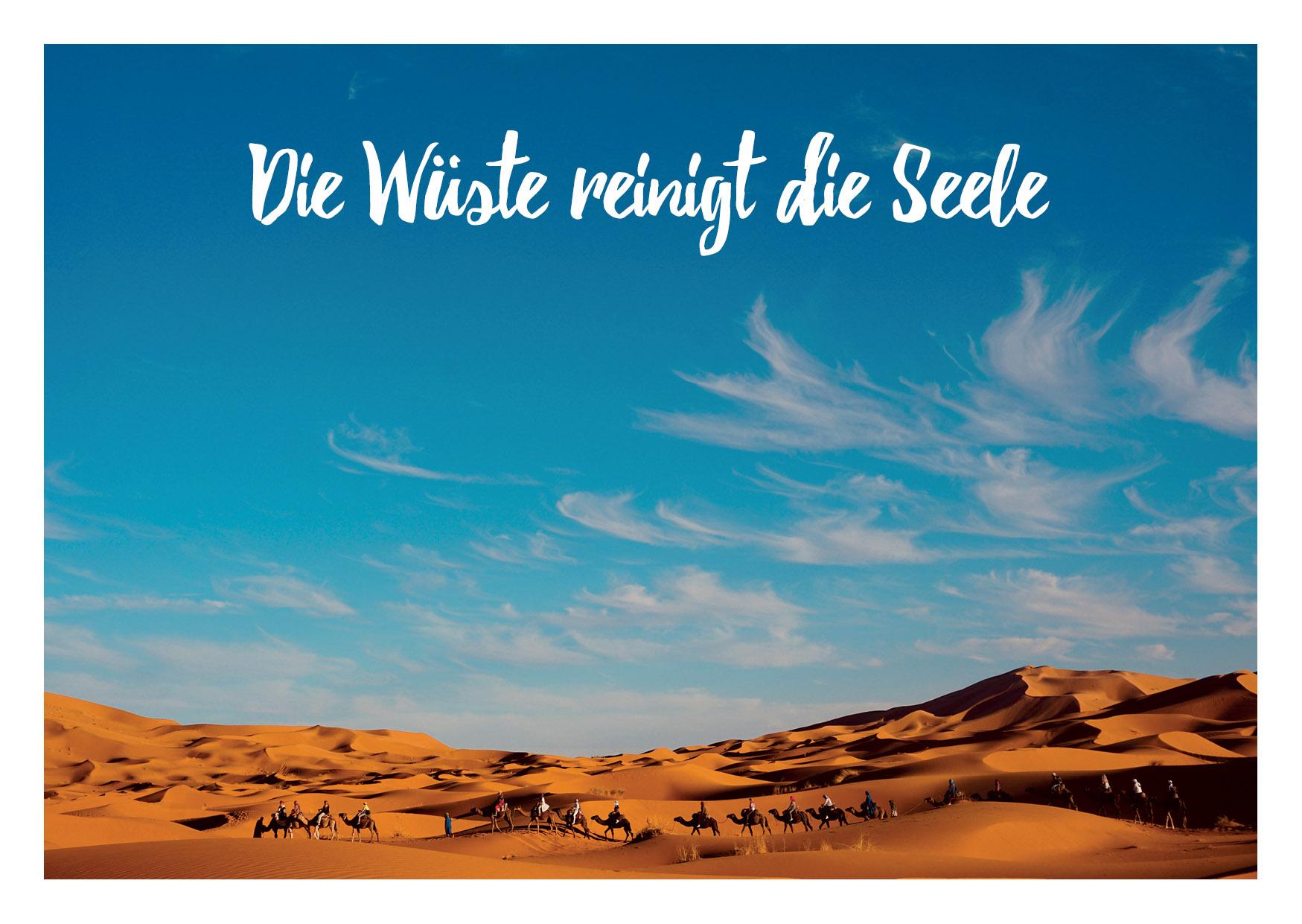 Sahara Yoga Postkarte Wueste2