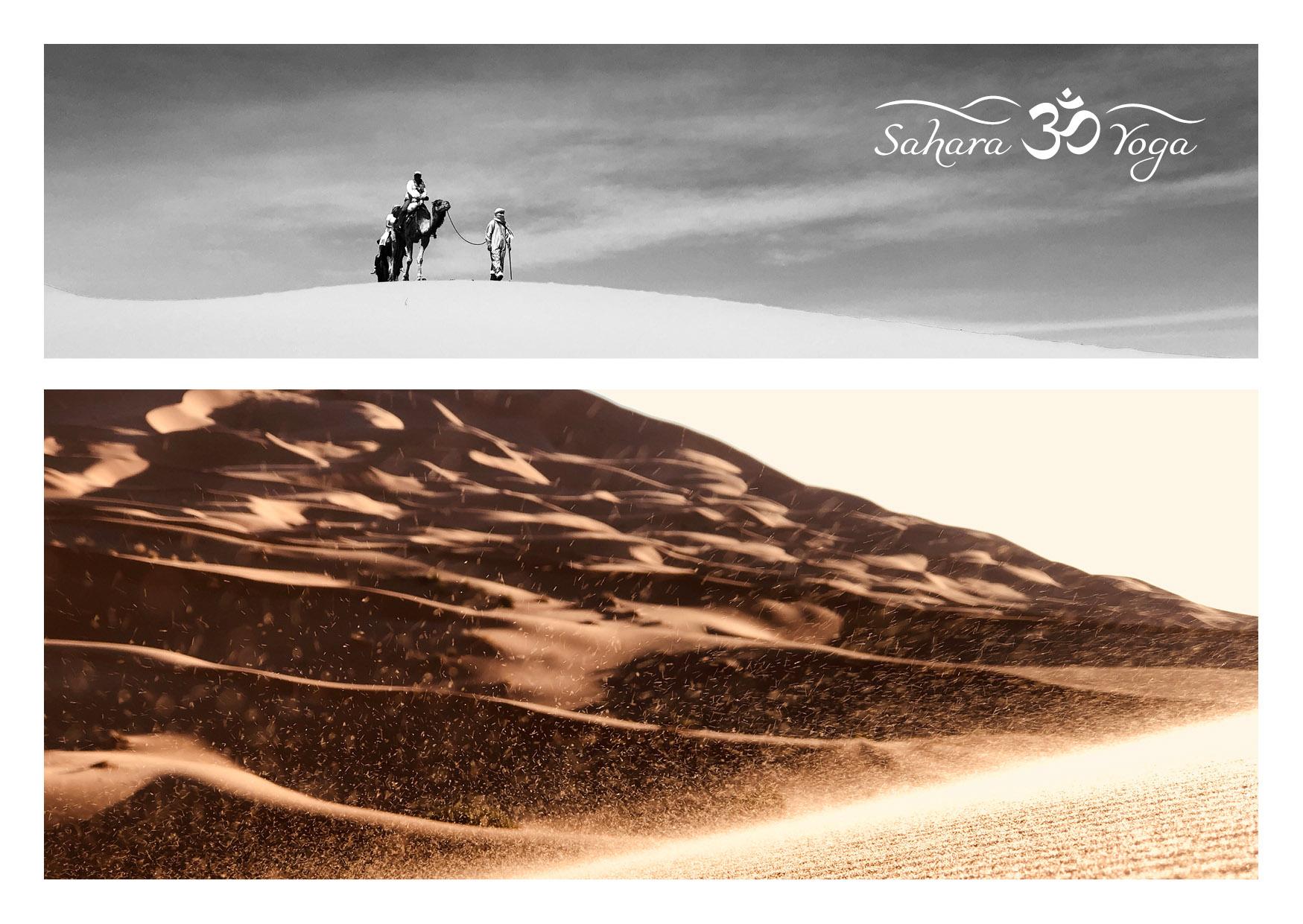 Sahara Yoga Postkarte Wueste3